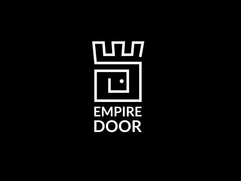 Logo and business card design for empire door reheart Image collections