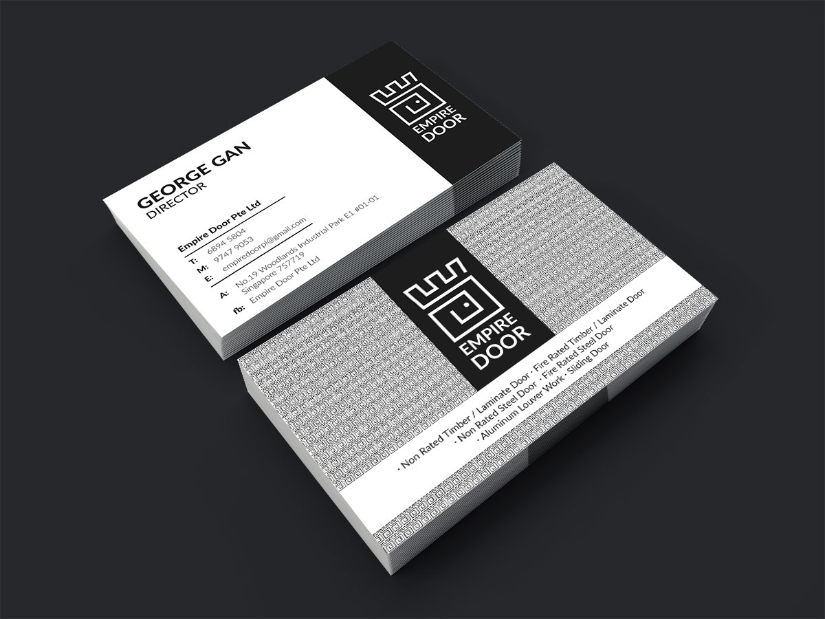 Logo and business card design for empire door castle to represent the meaning of empire a dot inside the d to form a door shape the business card reheart Choice Image