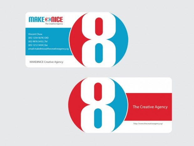 MAKE8NICE Business Card Designs by Vincent