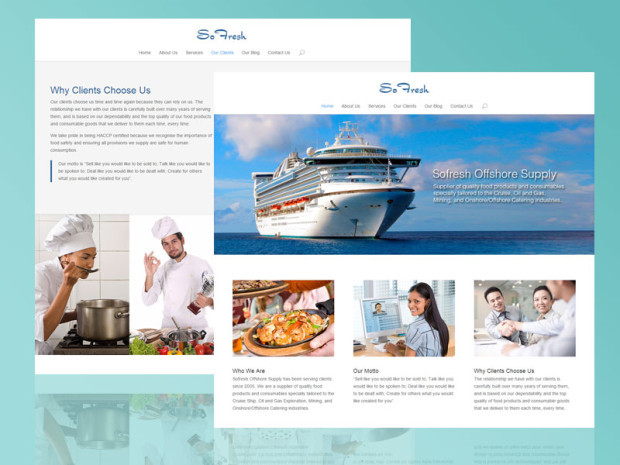 Website Design and Development for Sofresh Offshore Supply