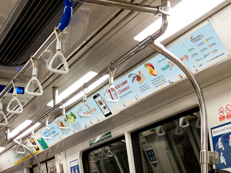 MRT In-Train Advertisement Design