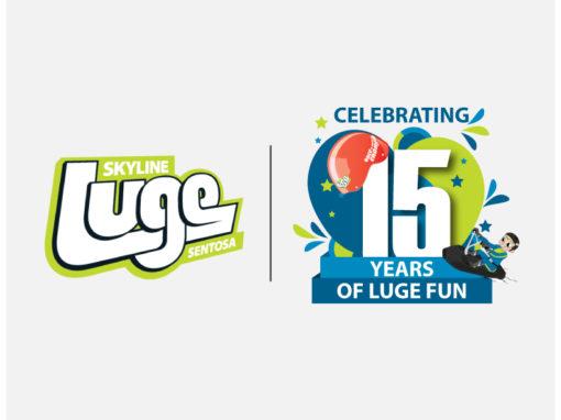 Anniversary Logo for Skyline Luge Sentosa