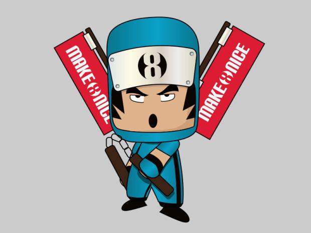 MAKE8NICE Mascot Designs by Yuan Zheng