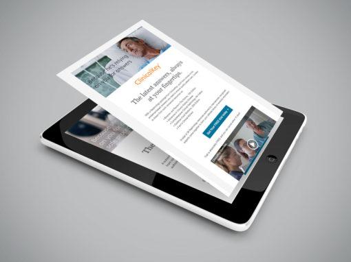 EDM (E-Direct Mailer) design for Elsevier