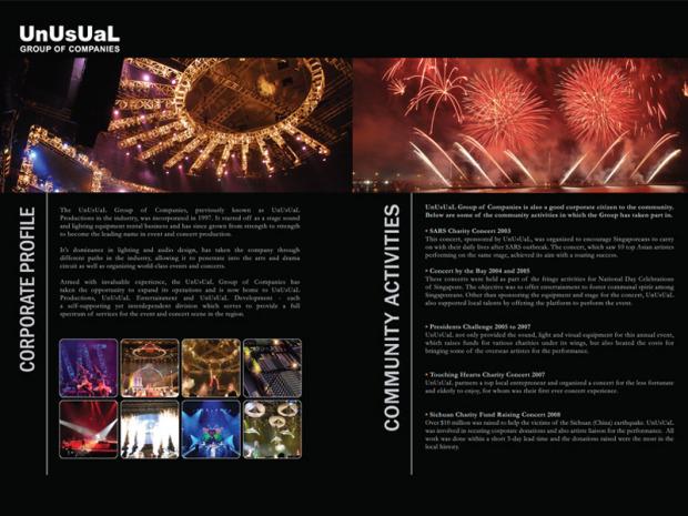 Corporate Brochure Design – UnUsUaL Group